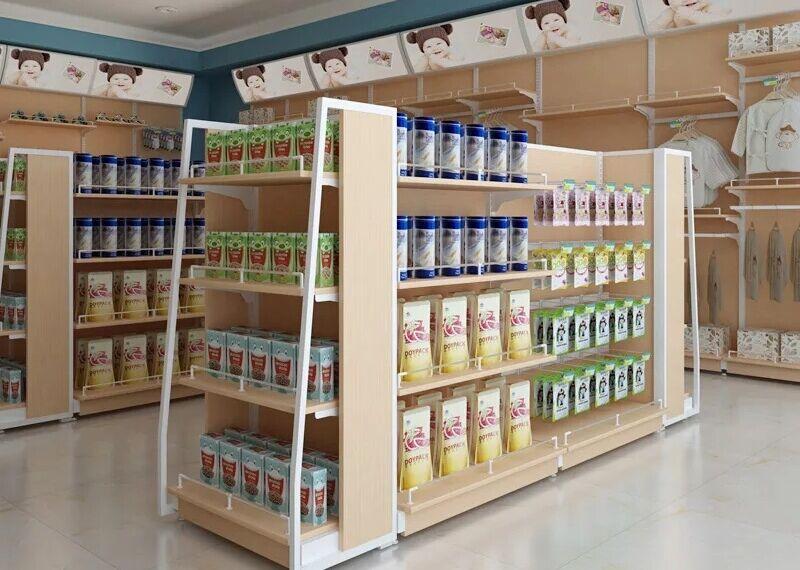 新款钢木结合超市货架15